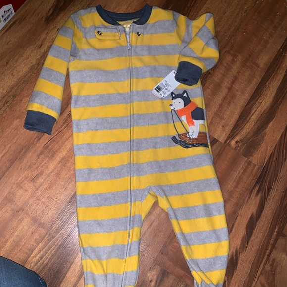 Carter's Other - 2 pairs of boys footie pajamas 18 months